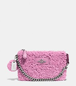 COACH NOLITA WRISTLET 15 IN SHEARLING