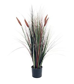 Pure Garden Ornamental Artificial Tall Cattail Grass