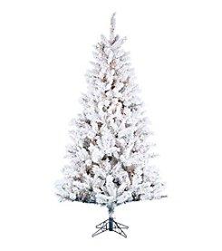 Kurt Adler Pre-Lit Flocked Norway Pine Tree