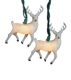 Kurt Adler White Glitter Reindeer Light Set