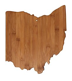 Totally Bamboo® Ohio State Shaped Cutting/serving Board