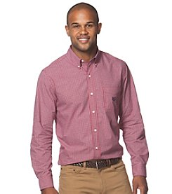 Chaps® Men's Long Sleeve Small Plaid Button Down