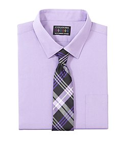 Alexander Julian® Men's Big & Tall Solid Button Down Dress Shirt