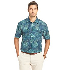 Van Heusen® Men's Short Sleeve Leaf Print Button Down Shirt