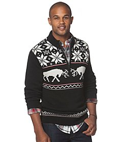 Chaps® Men's 1/4 Zip Reindeer Sweater