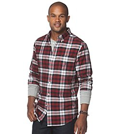 Chaps® Men's Long Sleeve Large Plaid Button Down