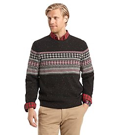 Izod® Men's Houndstooth Chest Pattern Crewneck Sweater