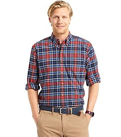 Izod® Men's Long Sleeve Medium Plaid Button Down