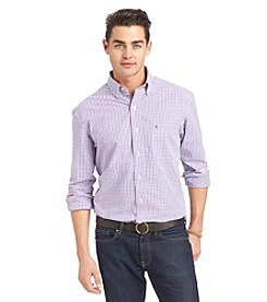 Izod® Men's Long Sleeve Tattersall Button Down