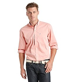 Izod® Men's Long Sleeve Gingham Button Down