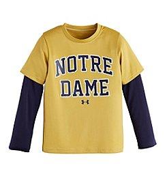 NCAA® Notre Dame Boy's 4-7 Layered-Look Long Sleeve Tee