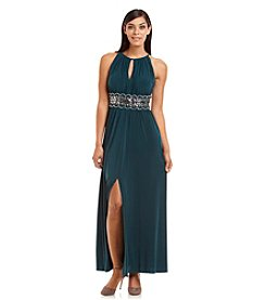 R&M Richards® Keyhole Beaded Dress