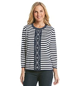Alfred Dunner® Sausalito Center Stripe Sweater