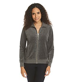 Ruby Rd.&Reg; Go Platinum Embellished Velour Jacket