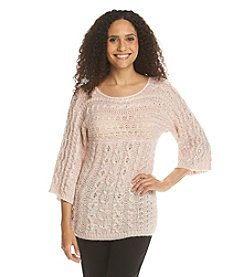 Ruby Rd.® Sweater Weather Embellished Marled Sweater