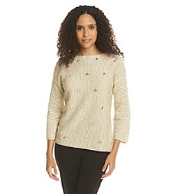 Ruby Rd.® Sweater Weather Embellished Metal Sweater