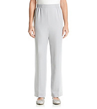 Alfred Dunner® Crystal Springs Solid Regular Pants
