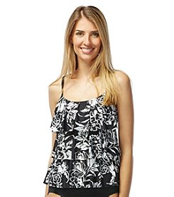 Beach House® Floral Ruffle Tankini Top
