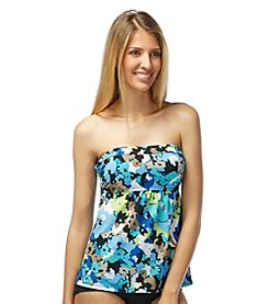 Beach House® Abstract Floral A Line Bandini Top