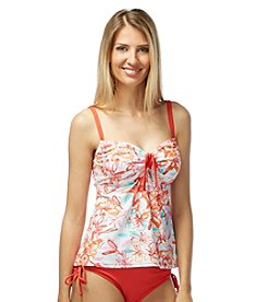 Beach House® Floral Adjustable Neckline Tankini