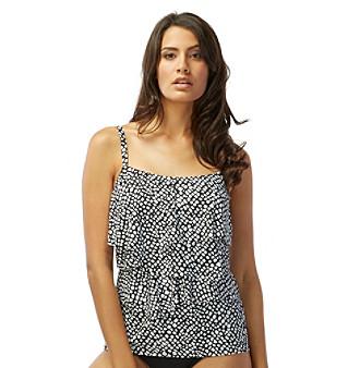 Coco Reef® Aura Ruffle Tankini Top - D Cup plus size,  plus size fashion plus size appare