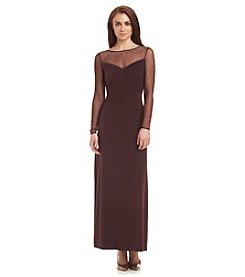 Calvin Klein Illusion Neck Gown