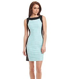 Calvin Klein Wavy Ponte Sheath Dress