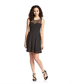GUESS Necklace Fit And Flare Dress