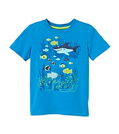 Mix & Match Boys' 2T-7 Short Sleeve Shark Print Tee