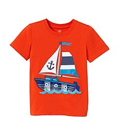 Mix & Match Boys' 2T-7 Short Sleeve Boat Applique Tee