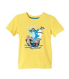 Mix & Match Boys' 2T-7 Short Sleeve Pirate Applique Tee