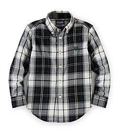 Chaps® Boys' 8-20 Long Sleeve Plaid Top