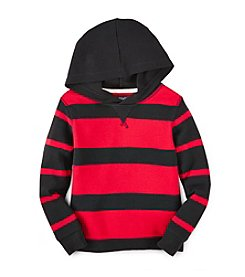 Chaps® Boys' 2T-7 Long Sleeve Thermal Hoodie