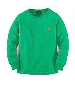 Ralph Lauren Childrenswear Boys' 2T-7 Solid Long Sleeve Tee