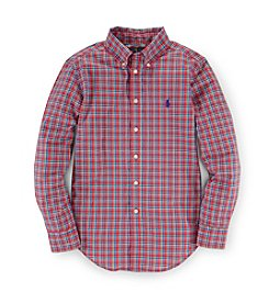 Ralph Lauren Childrenswear Boys' 8-20 Buttondown Plaid Top