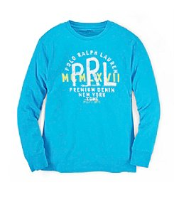 Ralph Lauren Childrenswear Boys' 8-20 Long Sleeve Graphic Tee