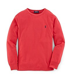 Polo Ralph Lauren Boys' 8-20 Long Sleeve Solid Tee