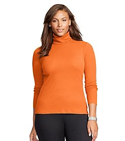 Lauren Ralph Lauren® Plus Size Ribbed Cotton Turtleneck