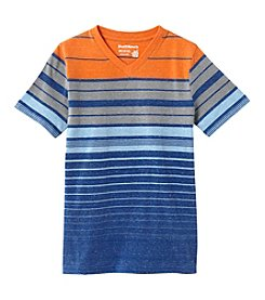 Ruff Hewn Boys' 8-20 Striped Short Sleeve V-Neck Tee