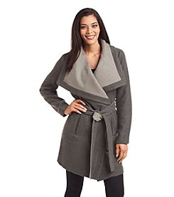 BCBGeneration™ Belted Wrap-Front Coat
