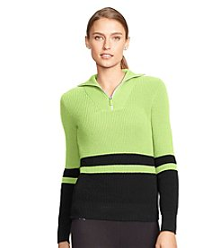 Lauren Active® Striped Cotton Sweater