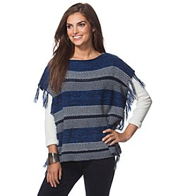 Chaps® Striped Poncho