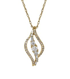 10k Yellow Gold Pendant Necklace
