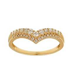 Fine Jewelry 0.33 ct .t.w Diamond Ring in 10k Yellow Gold