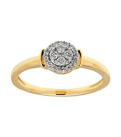Fine Jewelry 0.17 ct. t.w. Diamond Ring in 10k Yellow Gold