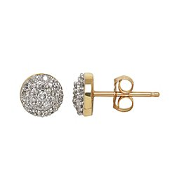 0.20 ct. t.w. Diamond Earrings in 10k Yellow Gold