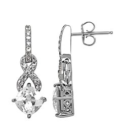 Fine Jewelry White Sapphire Earrings in Sterling Silver