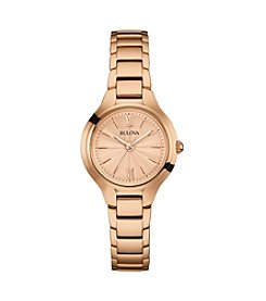 Bulova® Women's Rose Goldtone Watch