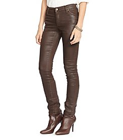 Lauren Jeans Co.® Coated Skinny Jean