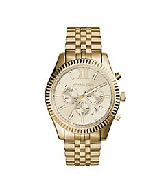 Michael Kors® Women's Chronograph Lexington Goldtone Stainless Steel Bracelet Watch